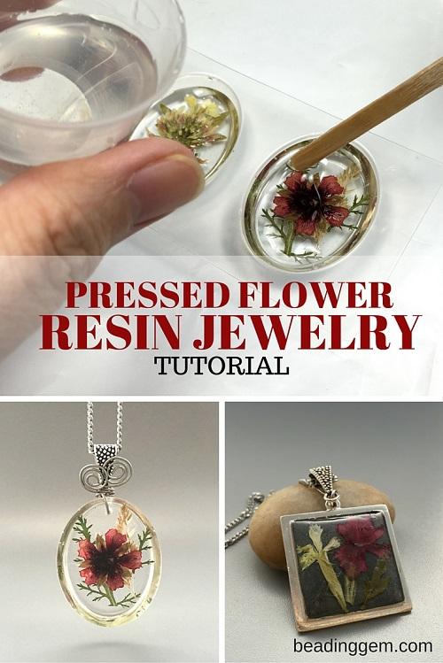 real+pressed+flower+resin+jewelry+tutorial