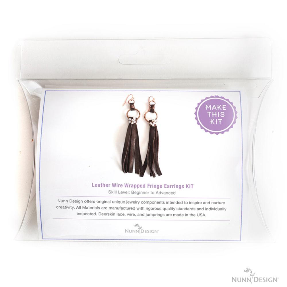 Leather Wrapped Fringe Earring Kit! - Nunn Design