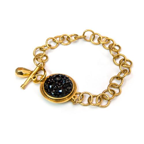 black-chaton-gold-bracelet
