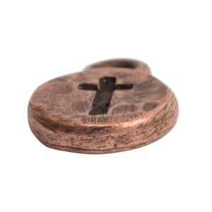Charm Itsy Spiritual CrossAntique Copper