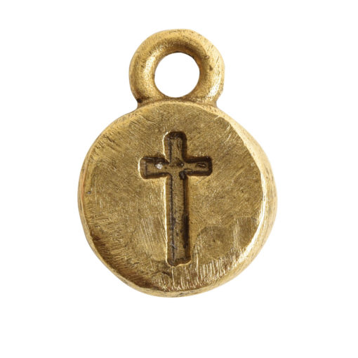 Charm Itsy Spiritual CrossAntique Gold