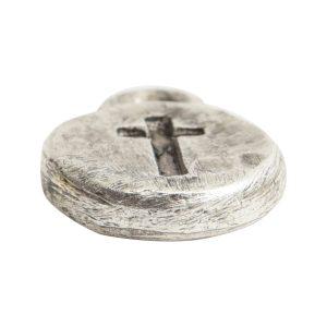 Charm Itsy Spiritual CrossAntique Silver