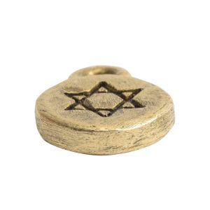 Charm Itsy Spiritual Star of DavidAntique Gold