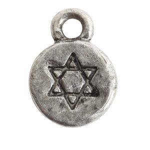 Charm Itsy Spiritual Star of DavidAntique Silver