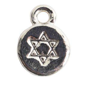 Charm Itsy Spiritual Star of DavidSterling Silver Plate