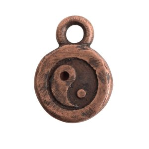 Charm Itsy Spiritual Yin YangAntique Copper