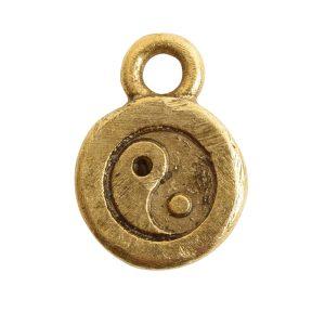 Charm Itsy Spiritual Yin YangAntique Gold