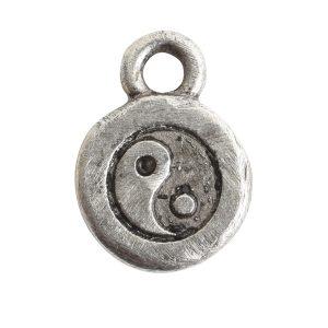 Charm Itsy Spiritual Yin YangAntique Silver