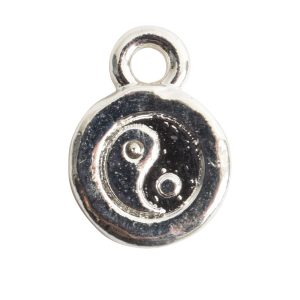 Charm Itsy Spiritual Yin YangSterling Silver Plate