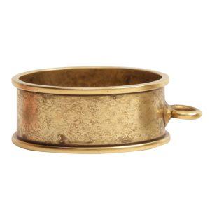 Open Bezel Channel Deep Large Circle Single LoopAntique Gold