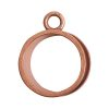 Open Bezel Channel Deep Small Circle Single Loop<br>Antique Copper