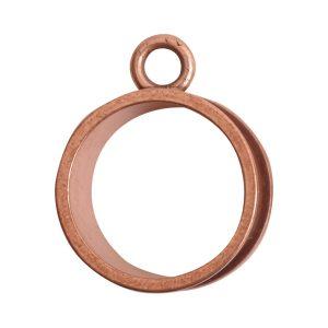 Open Bezel Channel Deep Small Circle Single LoopAntique Copper