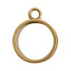 Open Bezel Channel Deep Small Circle Single Loop<br>Antique Gold