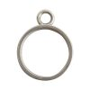 Open Bezel Channel Deep Small Circle Single Loop<br>Antique Silver