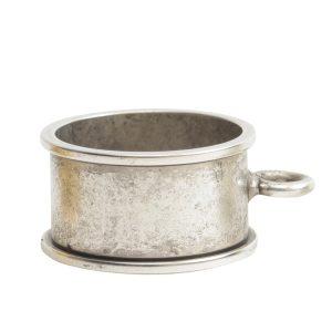 Open Bezel Channel Deep Small Circle Single LoopAntique Silver