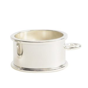 Open Bezel Channel Deep Small Circle Single LoopSterling Silver Plate
