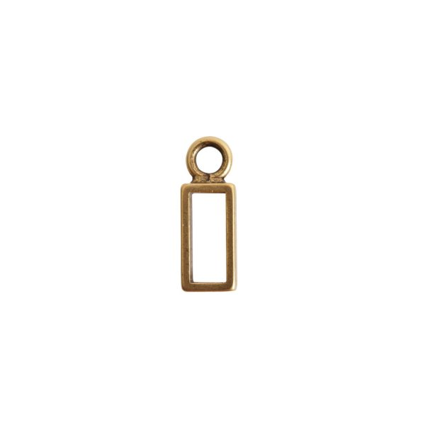 Open Frame Itsy Rectangle Single LoopAntique Gold