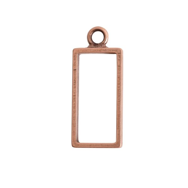 Open Frame Large Rectangle Single LoopAntique Copper