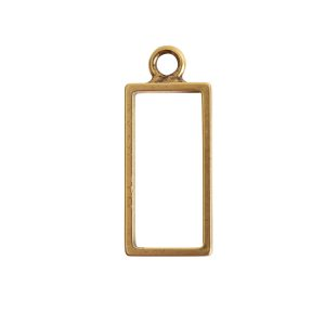 Open Frame Large Rectangle Single LoopAntique Gold
