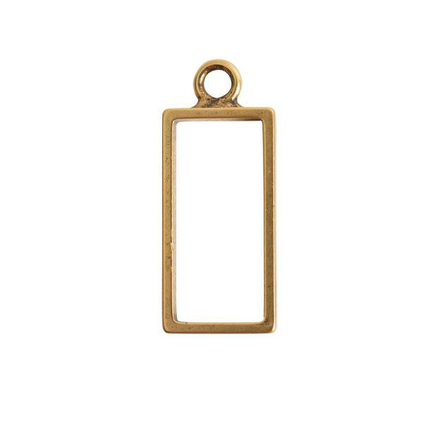 Open Frame Large Rectangle Single LoopAntique Gold