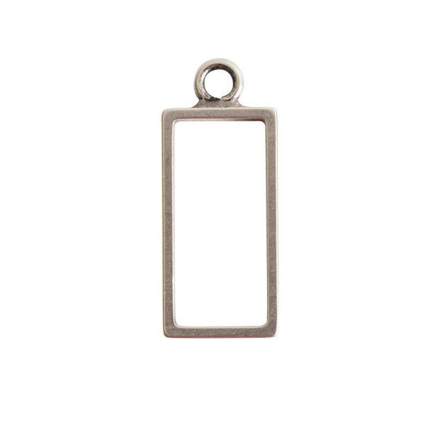 Open Frame Large Rectangle Single LoopAntique Silver
