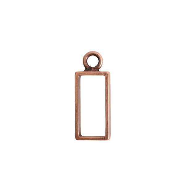 Open Frame Small Rectangle Single LoopAntique Copper