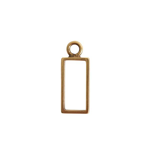 Open Frame Small Rectangle Single LoopAntique Gold