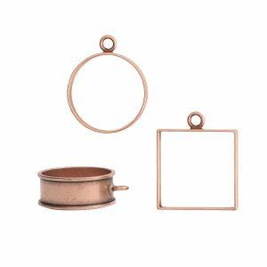 Buy & Try Findings Open Bezel & FramesAntique Copper