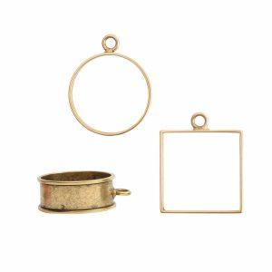 Buy & Try Findings Open Bezel & FramesAntique Gold