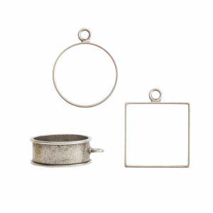 Buy & Try Findings Open Bezel & FramesAntique Silver