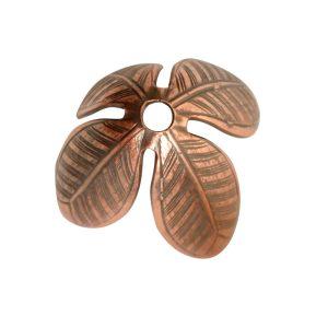 Beadcap 14mm Grande LeafAntique Copper