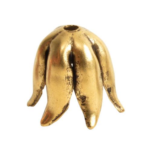 Beadcap 8mm Curled PetalAntique Gold