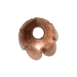 Beadcap 8mm Flower Petal<br>Antique Copper