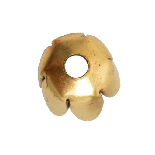 Beadcap 8mm Flower PetalAntique Gold