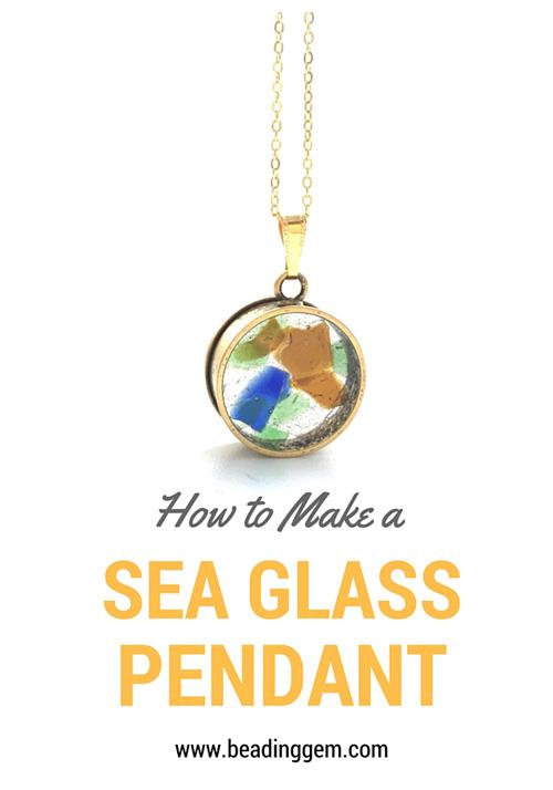 Sea glass and 2 part resin tutorial by the beading gem nunn design howtomakeaseaglasspendant aloadofball Images