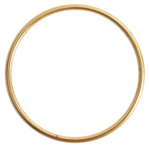 Open Frame Hoop Grande<br>Antique Gold 1