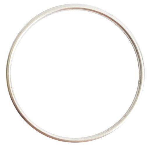 Open Frame Hoop Grande<br>Antique Silver 1