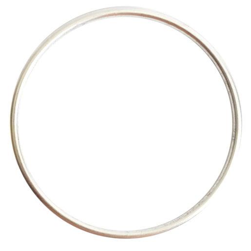 Open Frame Hoop Grande<br>Sterling Silver Plate 1