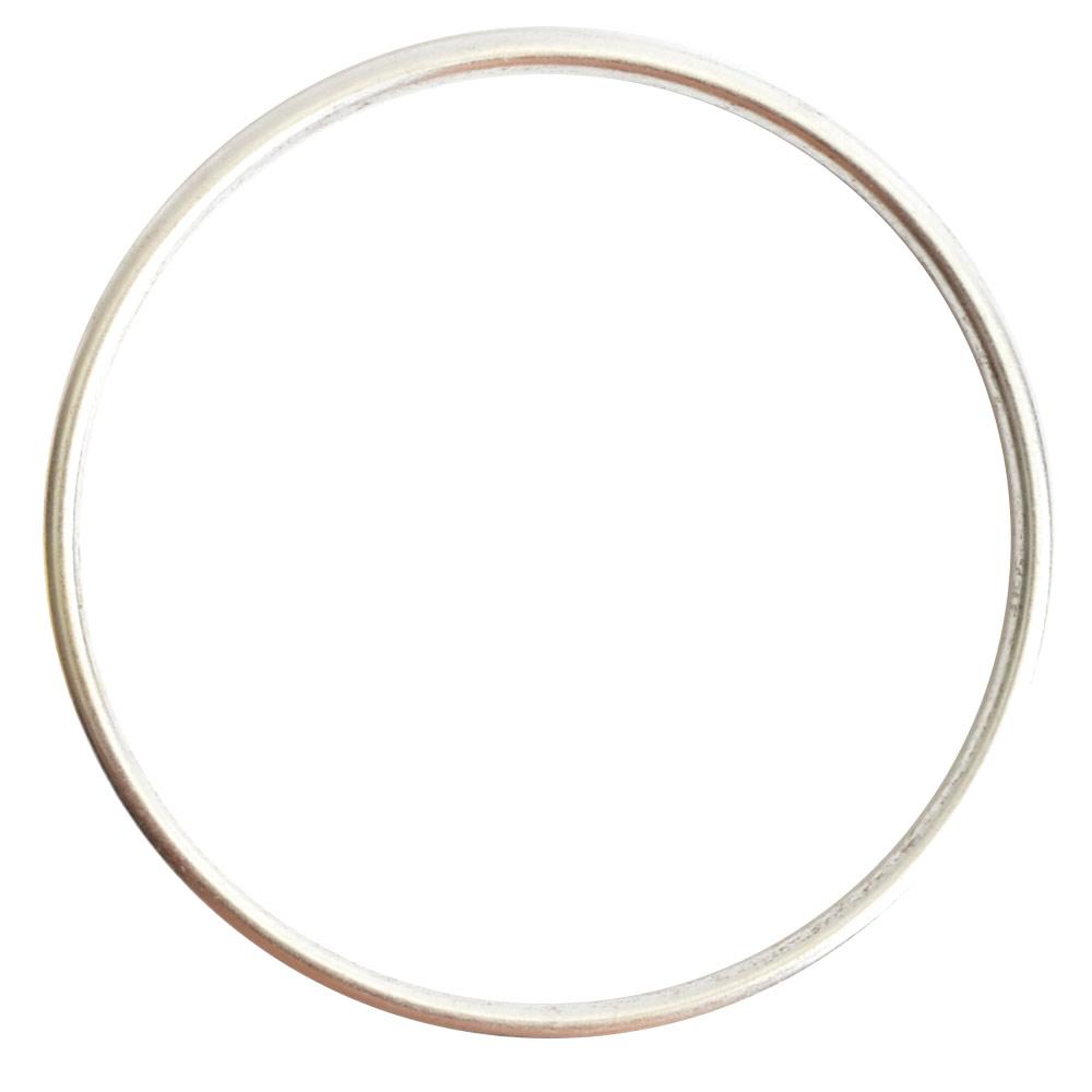 Open Frame Hoop GrandeSterling Silver Plate