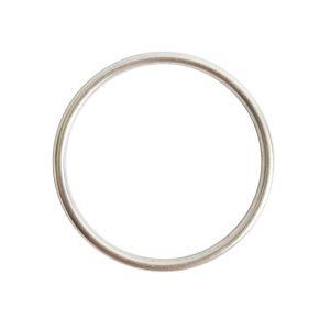 Open Frame Hoop LargeAntique Silver