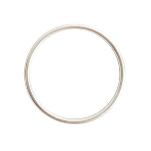 Open Frame Hoop LargeSterling Silver Plate