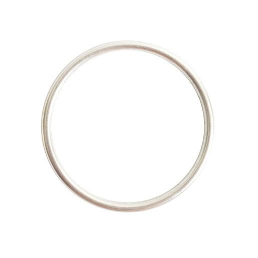 Open Frame Hoop Large<br>Sterling Silver Plate 1