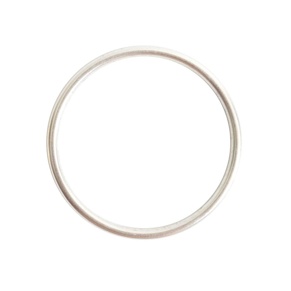 Open Frame Hoop LargeSterling Silver Plate