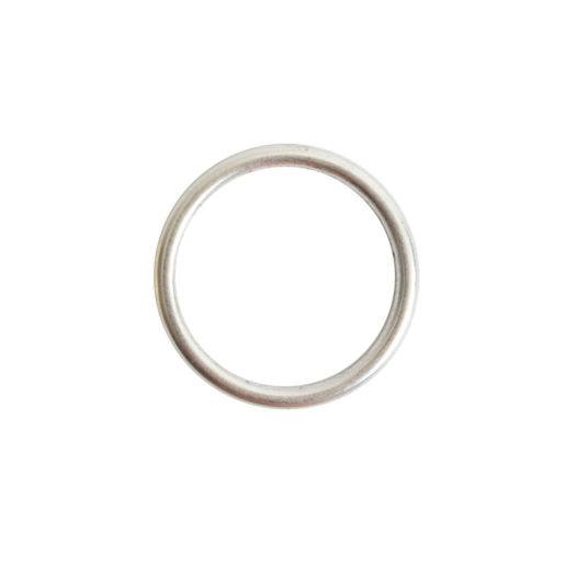 Open Frame Hoop Small<br>Antique Silver 1