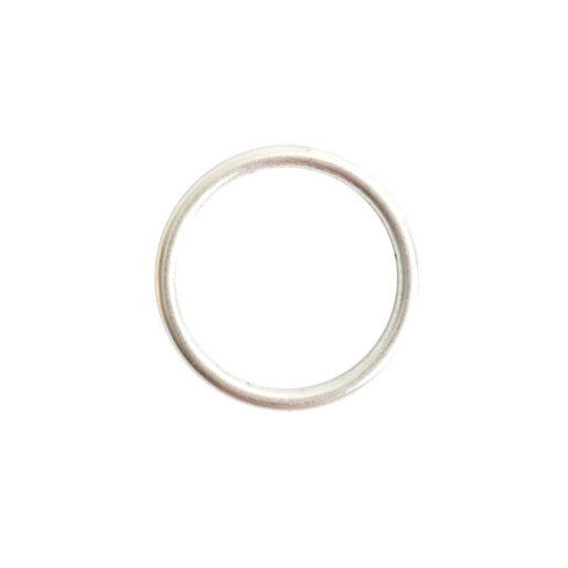Open Frame Hoop Small<br>Sterling Silver Plate 1