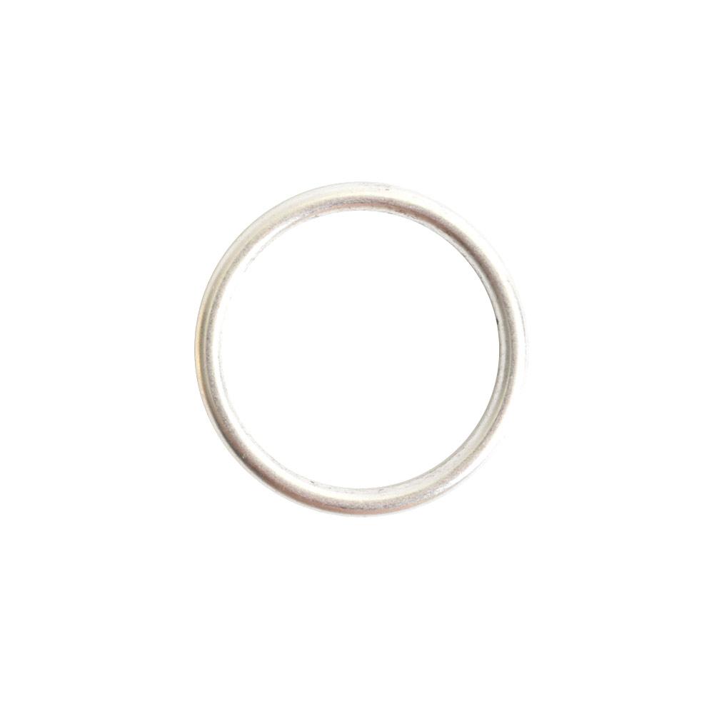 Open Frame Hoop SmallSterling Silver Plate