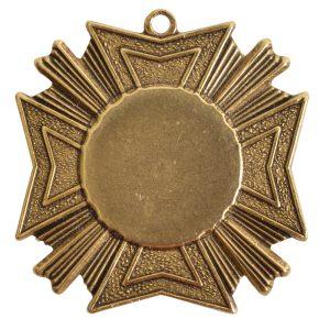 Brass Medallion Grande Starburst Single LoopAntique Gold