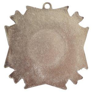 Brass Medallion Grande Starburst Single LoopAntique Silver