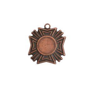 Brass Medallion Mini Starburst Single LoopAntique Copper