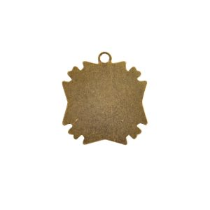 Brass Medallion Mini Starburst Single LoopAntique Gold